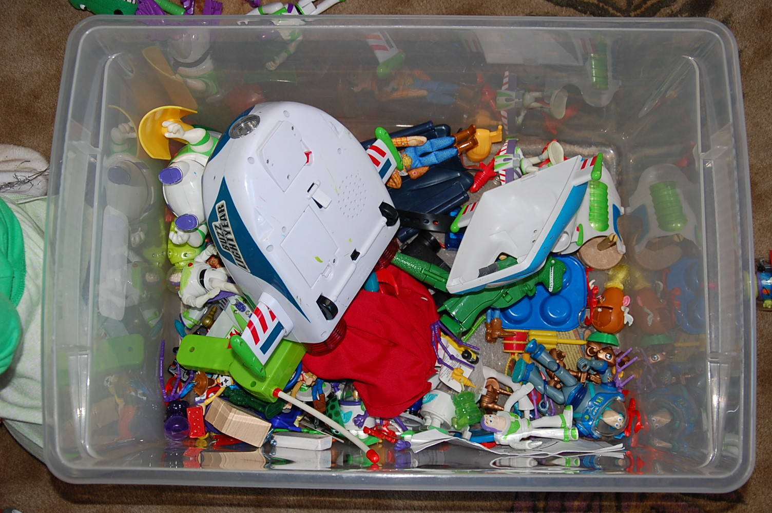 The bin of Toy Story Happiness